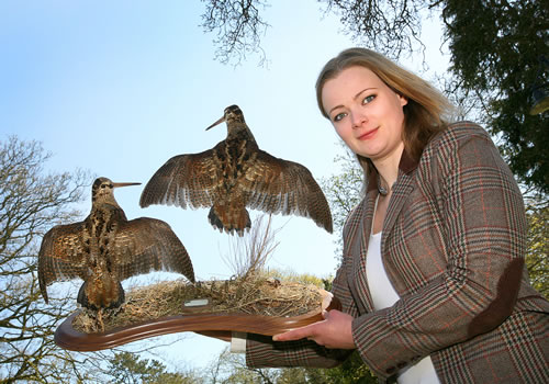 Ingrid with a 'left and right' woodcock