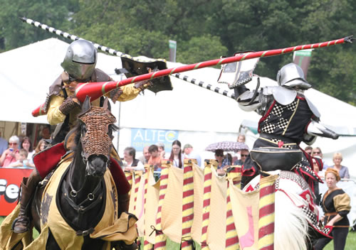 Exciting medieval jousting from the Knights of the North