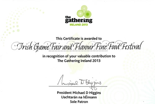 The gathering Certificate